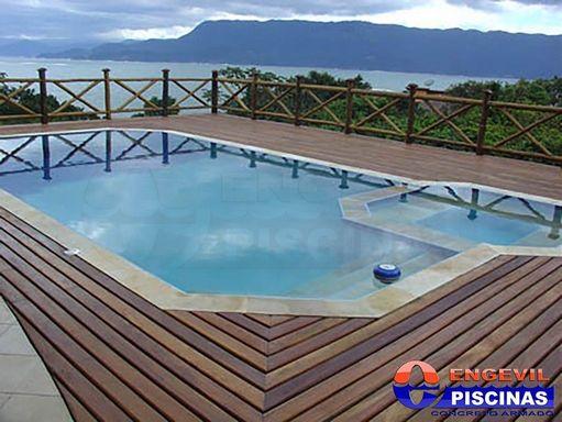 Projeto de piscina com raia engevil piscinas for Comprare piscina