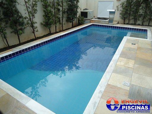 Piscina com cascata engevil piscinas for Piscinas empresas