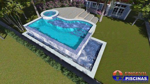 Piscinas de concreto personalizadas engevil piscinas for Piscinas infantiles baratas