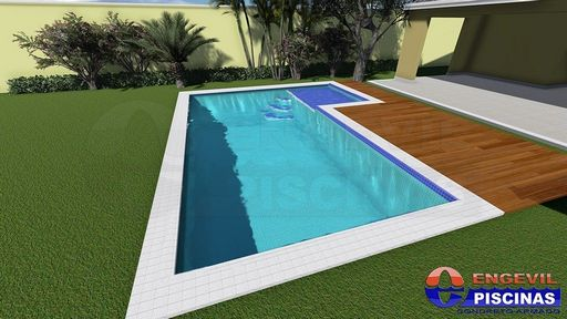 Piscina personalizada residencial em ilha comprida for Piscina residencial