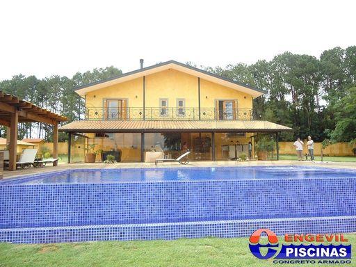 Piscina de alvenaria com hidro engevil piscinas - Piscina elevada ...