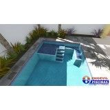 construção de piscina customizada no Tremembé