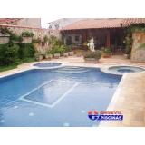 manutenção de piscina de azulejo com cascata Maia