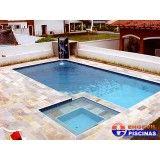 piscina com hidro de fibra em Jandira