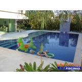 piscina de alvenaria com cascata preço Jardins