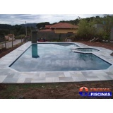 piscina de alvenaria com cascata Olímpico