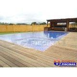 piscina de alvenaria com deck preço em Itupeva