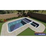 piscina de alvenaria com escada Maia