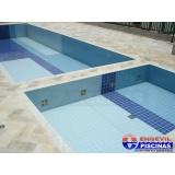 piscina de alvenaria com prainha preço Jardim Aracília
