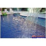 piscina de azulejo com cascata preço Jardins