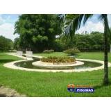 piscina de azulejo com deck Morungaba