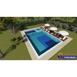 piscina de azulejo simples Jardim Europa