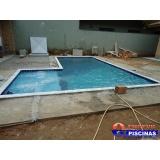 piscina de azulejo suspensa sob medida Cananeia