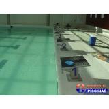 piscina de azulejo verde Guararema