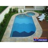 piscina de concreto armado para hotel Jardim Alzira Franco