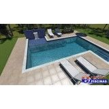piscina infantil sob medida preço Monte Carmelo