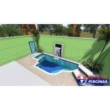 piscina personalizada de azulejo em São Carlos