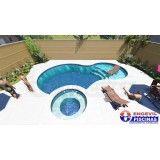 piscina sob medida em sp preço Jardim Itapoan