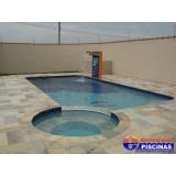 piscinas de azulejo com cascata Itu