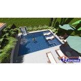 piscinas personalizadas grandes na Santa Maria