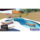 quanto custa piscina sob medida em sp na Casa Verde