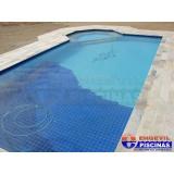 reforma de piscina de alvenaria no terraço Guarujá