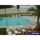 reforma de piscina de azulejo branco Santos