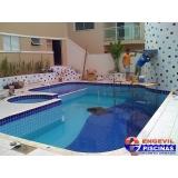 reforma de piscina de azulejo com cascata Jardim Guarará