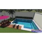 venda de piscina personalizada preço em Pirituba