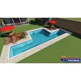venda de piscina sob medida preço em Botucatu